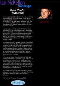 イアン・マッケランのブラッド・レンフロの死に対する弔意文