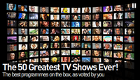THE 50 GREATEST TV SHOWS OF ALL TIME