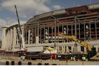 建設中の新ヤンキースタジアム