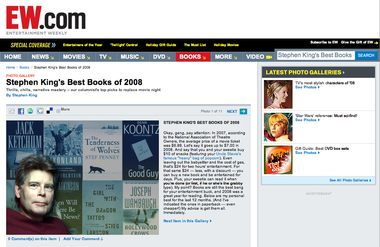 Stephen King's Best Books of 2008