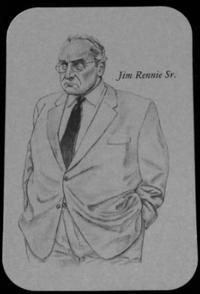 Matthew Diffee によるJim Rennie Sr. (ビッグ・ジム・レニー)のイラスト