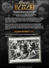 スティーヴン・キングの新作「11/22/63」