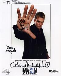 アンソニー・マイケル・ホールのサイン