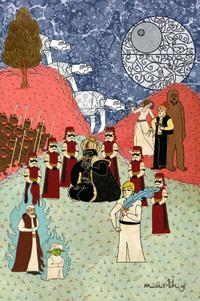 オスマン帝国絵画風「スター・ウォーズ」ポスター