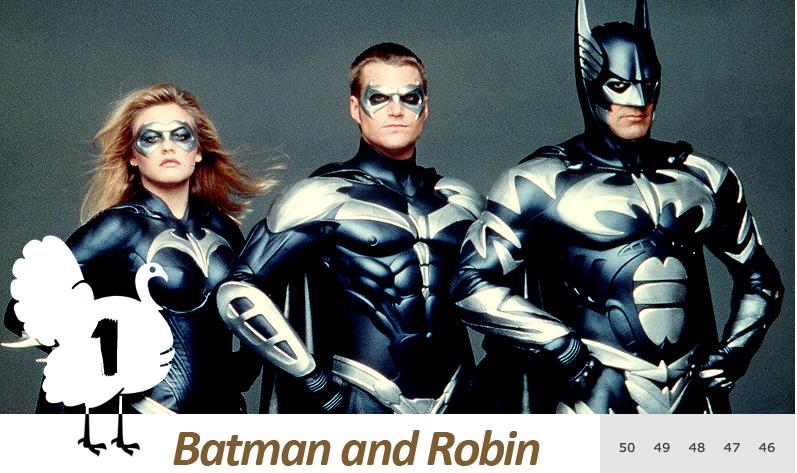 「史上最悪の映画」第1位『バットマン&ロビン/Mr.フリーズの逆襲』