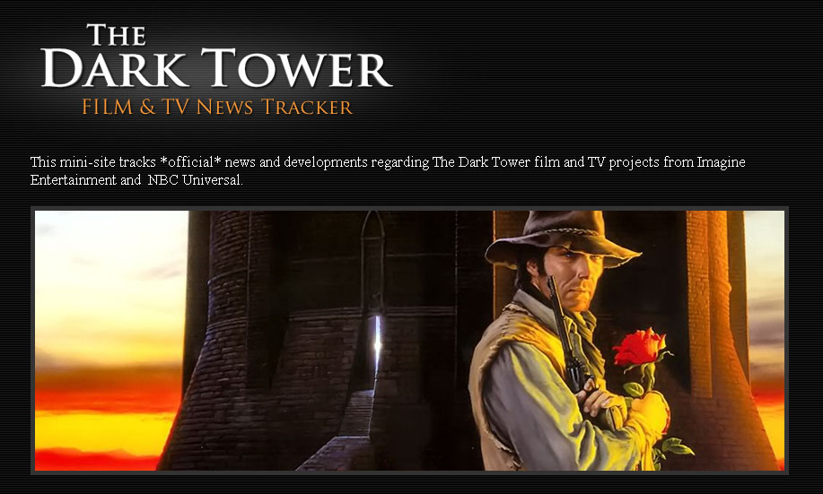 「The Dark Tower Film & TV News Tracker」