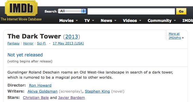 IMDbの「ダーク・タワー」のページ