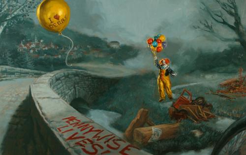 「IT」25周年記念スペシャル・エディションの表紙の原画