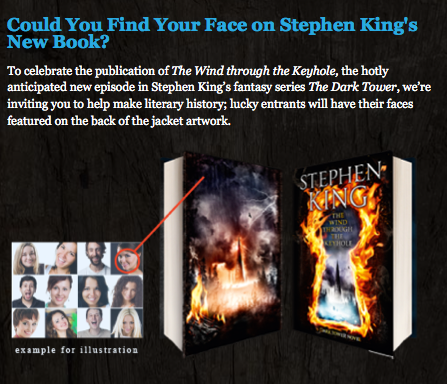 UK版「The Wind through the Keyhole」カバーに読者の顔写真が使われるキャンペーン