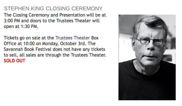 Closing Ceremony with Stephen King
