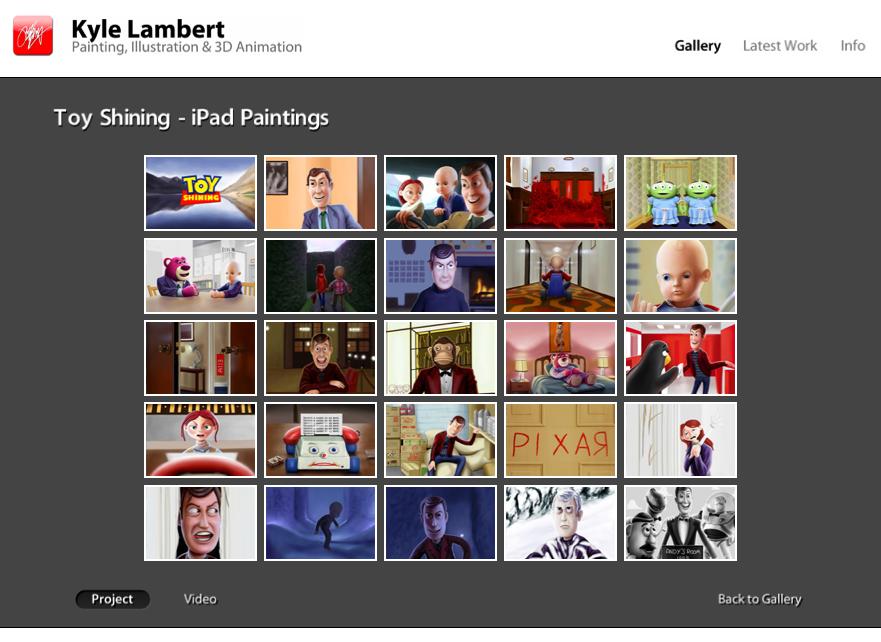 Toy Shining - iPad Paintings