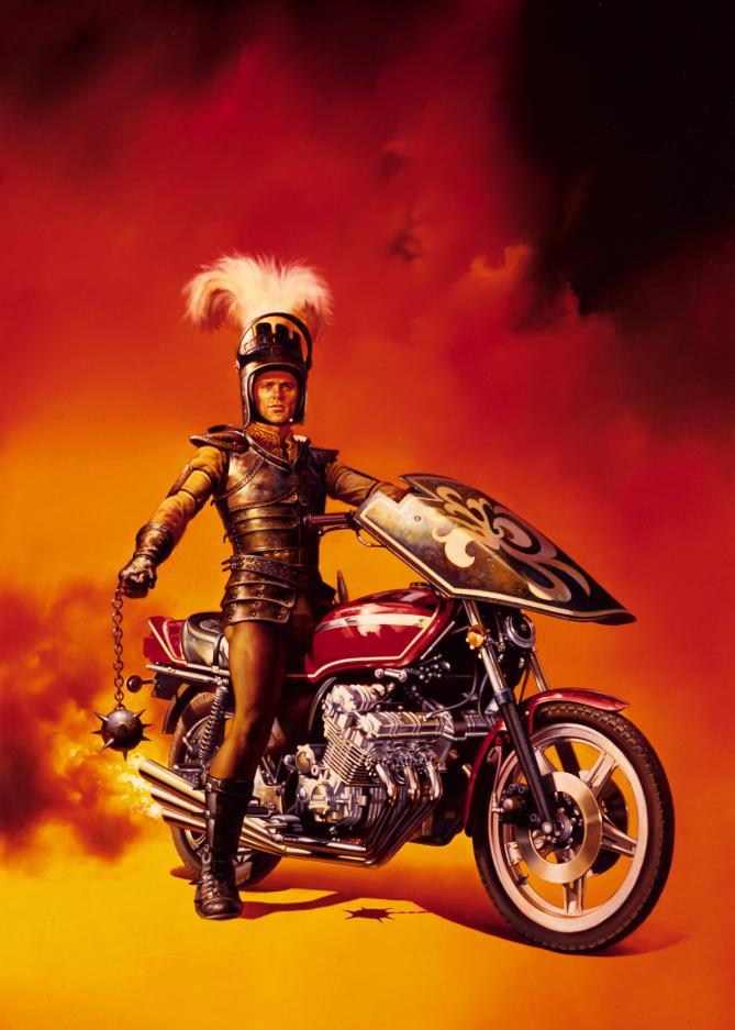 「ナイトライダーズ」のポスターとなったボリス・ヴァレホの「Knight on Wheels」