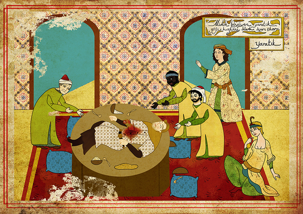 オスマン帝国絵画風「エイリアン」ポスター