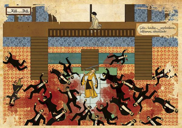 オスマン帝国絵画風「キル・ビル」ポスター