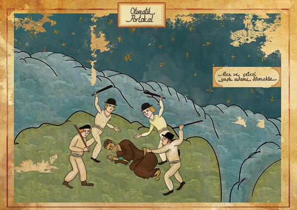 オスマン帝国絵画風「時計じかけのオレンジ」ポスター