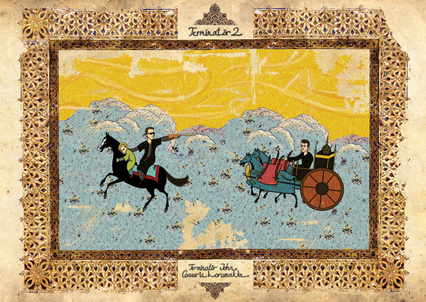 オスマン帝国絵画風「ターミネーター2」ポスター