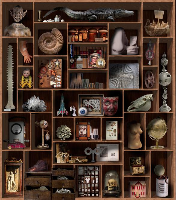 山田英春による「私が選ぶ国書刊行会の3冊」のアートワーク