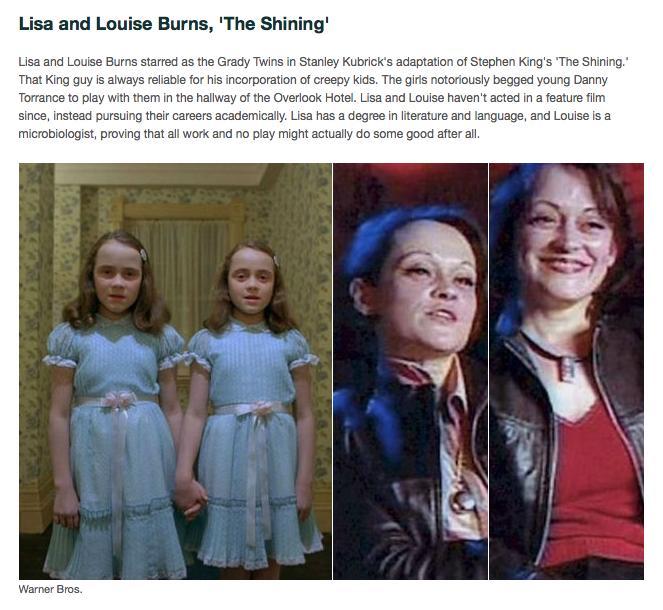 """「シャイニング」でグレイディの双子の娘を演じたリサ&ルイーズ・バーンズ"""""""