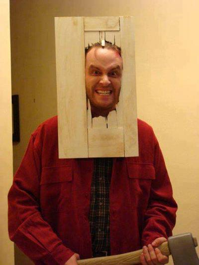 Here's Johnny! The Shining cosplay (?)
