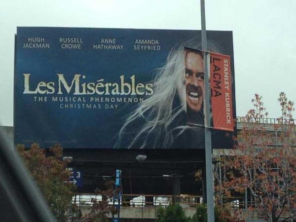 「レ・ミゼラブル」のポスターがREDRUMなことに