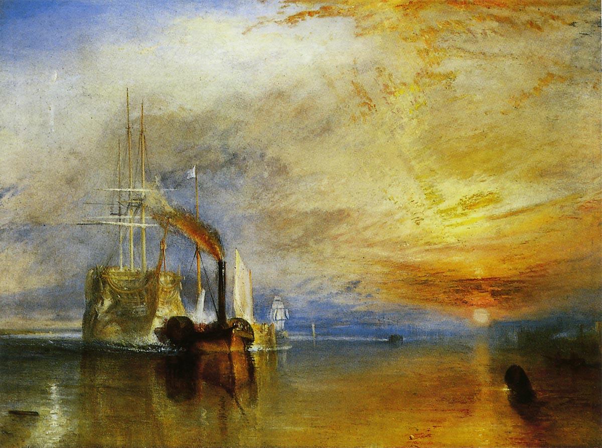 「解体のため錨泊地に向かう戦艦テメレール号」ジョセフ・マロード・ウィリアム・ターナー
