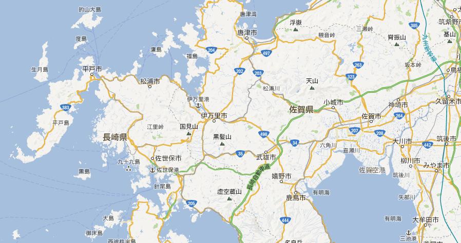 佐賀県伊万里市と武雄市