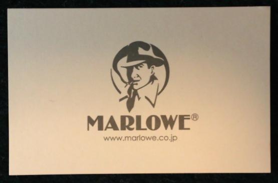 MARLOWE/マーロウのショップカード