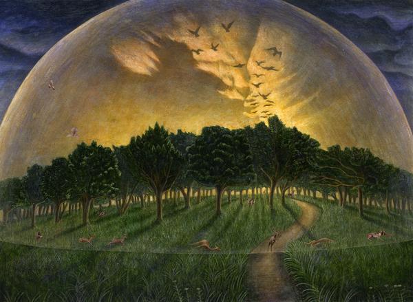 「アンダー・ザ・ドーム(3・4)」の装画の原画