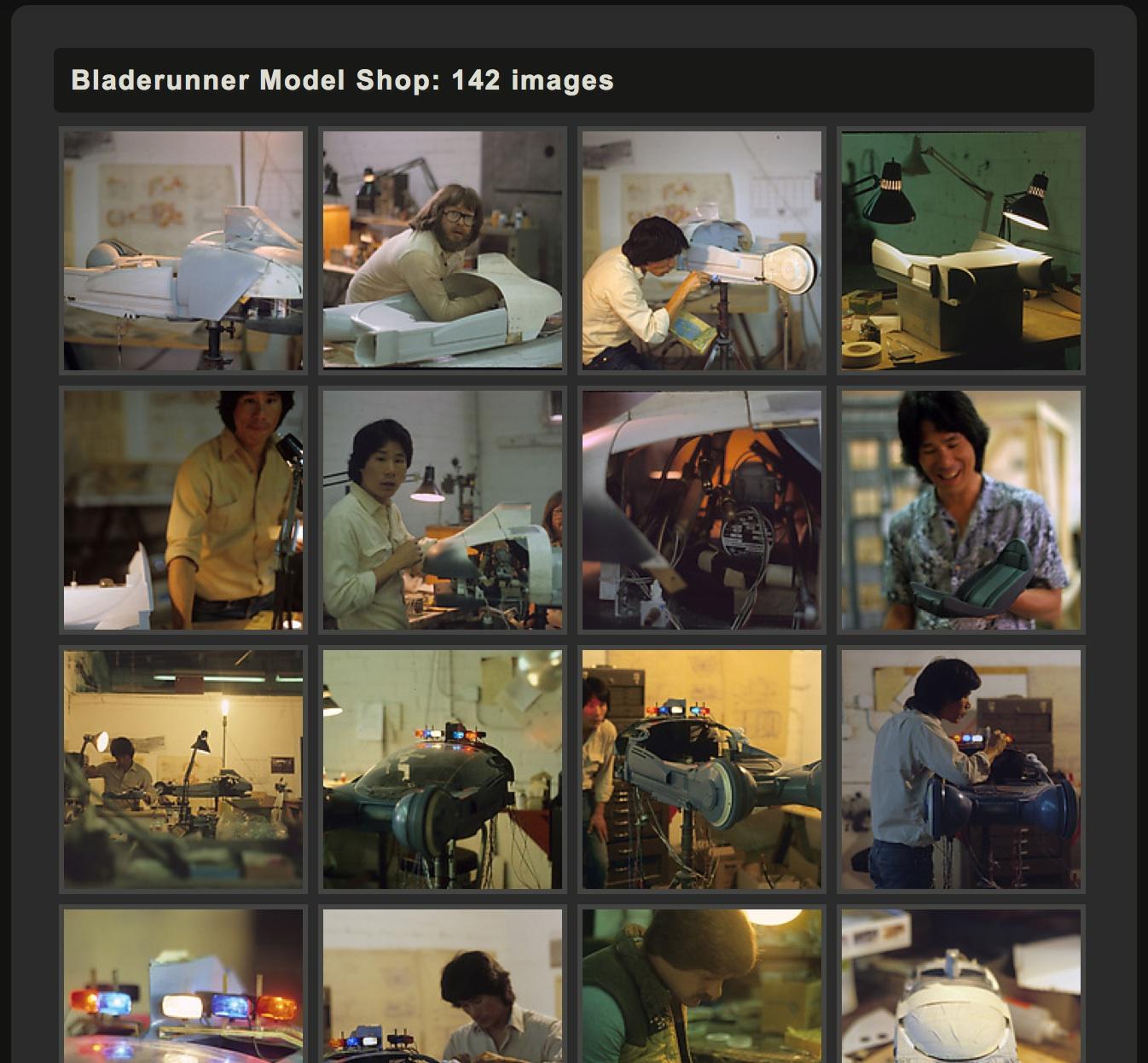 Bladerunner Model Shop: 142 images