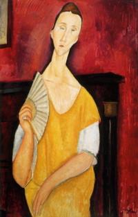「扇子を持つ女」モディリアーニ